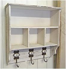 Shabby Chic Wall Shelves by White Shabby Chic Wall Shelf Unit