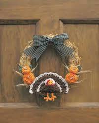 crochet turkey thanksgiving wreath favecrafts