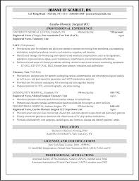 Staff Nurse Job Description For Resume by Pacu Nurse Job Description Resume Free Resume Example And