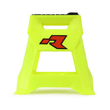 motocross bike stands racetech new mx r15 neon yellow suzuki worx motocross dirt bike