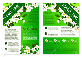 welcome brochure template flowers welcome brochure template design royalty free