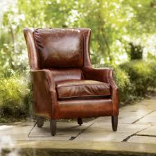 Brown Leather Chair Living Room Chairs Arhaus Furniture - Leather chairs living room