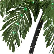 artificial pre lit palm tree w 88 led lights best choice products