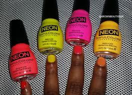 neon nail polish sinful colors