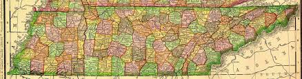 Tennessee County Map With Cities by Tennessee Maps