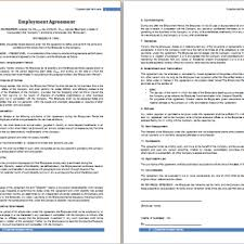 job contract sample free agreement templates