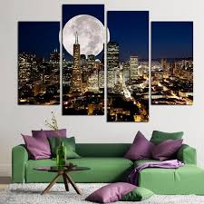 home decor prints fashion hd large canvas painting 4 panels home decor wall art