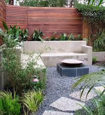 Pea Gravel Patio Pea Gravel Patio Contemporary With Bamboo Built In Seating Home