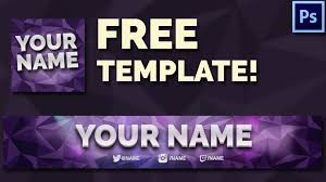 template youtube photoshop cc free youtube banner avatar template youtube