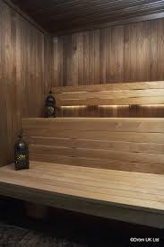 aspen wood wall the notte sauna from dröm uk showcases thermo aspen heat