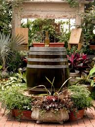 Wine Barrel Home Decor How To Create A Wine Barrel And Bottle Fountain Hgtv