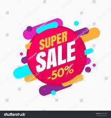 super sale banner colorful playful design stock vector 506877493