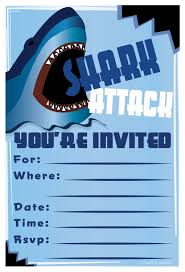 amazon com shark birthday party invitations fill in style 20