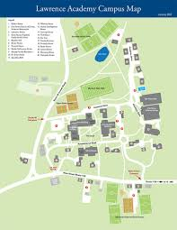 Colleges In Massachusetts Map by Lawrence Academy The Campus