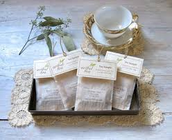 tea bag party favors tea sler handmade individual tea bags 6 12 18 or 24 you