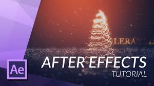 create a christmas tree in after effects with particular youtube