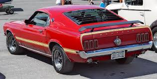 1969 mustang rear 1969 ford mustang mach 1 351 rear angle