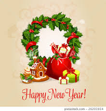 happy new years posters happy new year greeting card or poster design stock illustration
