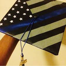 blue graduation cap thin blue line graduation cap i am totally doing this class of