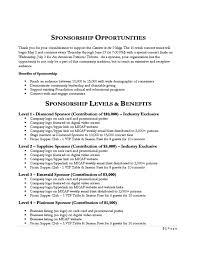 sponsorship proposal cover letter
