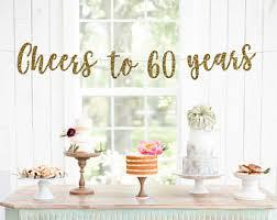 60 year anniversary party ideas 60th birthday party etsy