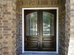 Oak Trellis Accessories Sweet Dark Oak Single Front Door With Chrome Handle