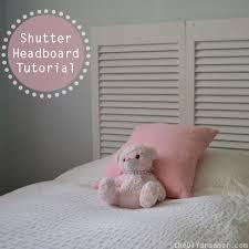 shutter headboard tutorial the d i y dreamer