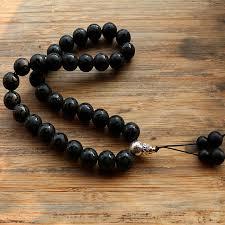 rosary for 12mm black bead 33 prayer islamic muslim tasbih allah