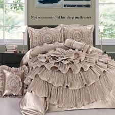 Jcpenney Bed Sets Ruffled Chagne Rosette Comforter Bed Set Home