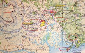 Tre Map Under Attack At Bien Hoa Combat Airlift In Vietnam