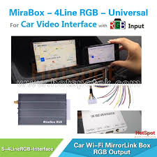 mirror link android car mirrorlink adaptor suppot ios9 and android for original screen