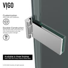 Frameless Glass Shower Door Handles by Vigo Vg6072chblk28 Soho 28 Frameless Shower Door With 5 16 Clear