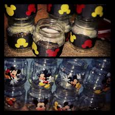 halloween baby food jar crafts mickey mouse baby food jar party favors via etsy minnie mouse
