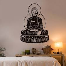 online buy wholesale buddha wall decal from china buddha wall buddha wall decal sticker vinyl art buddhism sacred pattern wall stickers for bedroom home decor removable
