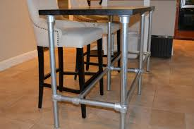 galvanized pipe table legs counter height tables diy counter height table with pipe legs