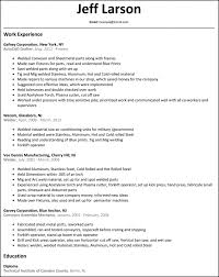 Welding Resumes Examples by Marvelous Idea Welder Resume 10 Welder Resume Resume Example