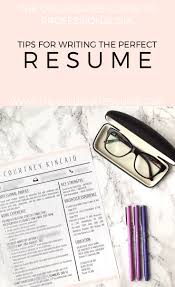 Resume Basics by The Collegiates U0027 Guide To Professionalism How To Write A Killer