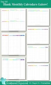 25 unique blank monthly calendar template ideas on pinterest