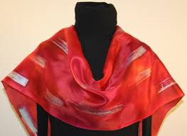 custom designed unique hand painted silk scarves and shawls