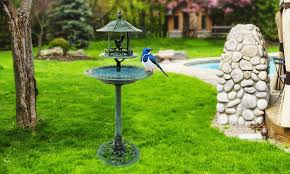 up to 64 ornamental bird bath and feeder groupon
