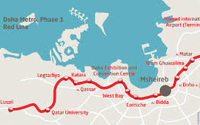 Red Line Metro Map Doha Metro Red Line Major Elevated Civil Works