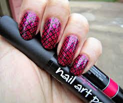 concrete and nail polish nail art pen
