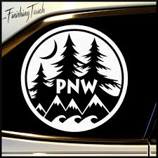 jeep stickers for girls pnw sticker decal northwest trees mountains nature vinyl
