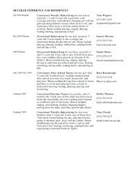nanny resume exles resume for a nanny pleasing live out nanny resume sle on