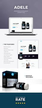 layout page null adele responsive supplement landing page landing pages nulled