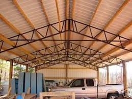 Barn Truss Cost To Ship Diy Steel Truss Pole Barn With Metal Roofing 30