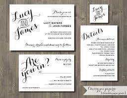 wedding invitations rsvp cards this digital printable set includes