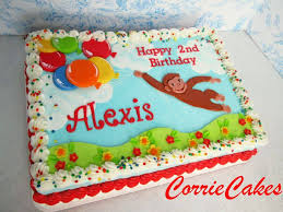 curious george birthday cake behance