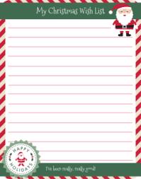 christmas wish list free christmas wish list printable mafia