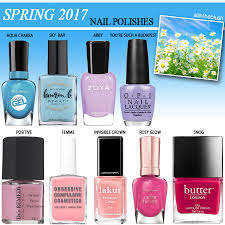 9 nail polish shades for spring 2017